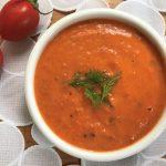 מרק עגבניות צלויות