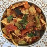 פסטה ברוטב ירקות צלויים